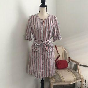 Caslon linen shirt dress.